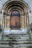 Imposing entrance of stone and marble archway of church Royalty Free Stock Image