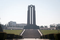 Imposing heroes monument Stock Image