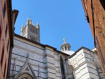 Sienna Roman Catholic Cathedral, Siena, Italy. This is the imposing Medieval Roman Catholic Sienna Cathedral, or Duomo, in Siena, , or Sienna, Italy Royalty Free Stock Photography