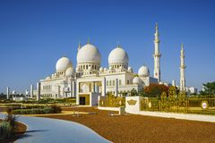Imposing Sheikh Zayed Grand Mosque in Abu Dhabi 10. The imposing Sheikh Zayed Grand Mosque in Abu Dhabi Royalty Free Stock Image