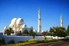 Imposing Sheikh Zayed Grand Mosque in Abu Dhabi 11. The imposing Sheikh Zayed Grand Mosque in Abu Dhabi Stock Photo