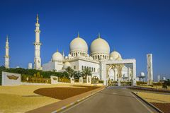 Imposing Sheikh Zayed Grand Mosque in Abu Dhabi 20. The imposing Sheikh Zayed Grand Mosque in Abu Dhabi Royalty Free Stock Photography