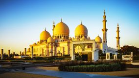Imposing Sheikh Zayed Grand Mosque in Abu Dhabi 21 royalty free stock images