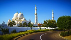 Imposing Sheikh Zayed Grand Mosque in Abu Dhabi 13. The imposing Sheikh Zayed Grand Mosque in Abu Dhabi Stock Photos