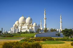 Imposing Sheikh Zayed Grand Mosque in Abu Dhabi 23. The imposing Sheikh Zayed Grand Mosque in Abu Dhabi Royalty Free Stock Photos