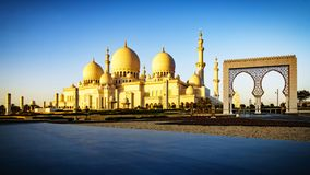 Sheikh Zayed Grand Mosque in Abu Dhabi 15 Royalty Free Stock Photo