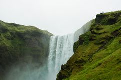 The imposing Skogafoss waterfall in Iceland Royalty Free Stock Images