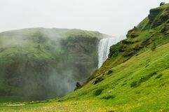 The imposing Skogafoss waterfall in Iceland Royalty Free Stock Photography