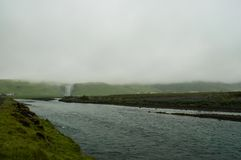 The imposing Skogafoss waterfall in Iceland Stock Images