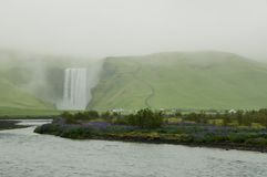 The imposing Skogafoss waterfall in Iceland Royalty Free Stock Photo