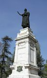 Imposing statue of the famous poet Virgil in the Center in the c Royalty Free Stock Images