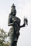 Hindu Goddess statue, Hyderabad, India. Imposing statue of a Hindu deity in the centre of the city of Hyderabad, Andhra Pradesh, India Stock Photos