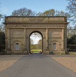 An imposing stone entrance gate Royalty Free Stock Photography