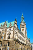 The imposing townhall in Hamburg Royalty Free Stock Images