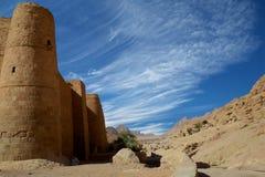 Imposing walls of St Catherine's Monastery Stock Photos