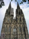 The imposing western Fascade of Cologne Cathedral, Germany royalty free stock images