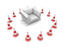 Impossibility of the agreement. Insuperable barrier. Business concept. isolated Royalty Free Stock Image
