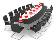 Impossibility of the agreement. Insuperable barrier. Business concept. isolated Stock Images