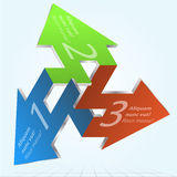 Impossible Arrows Vector Illustration. Royalty Free Stock Image