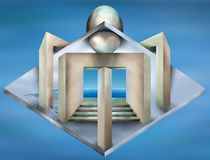 Impossible art deco structure Stock Photo