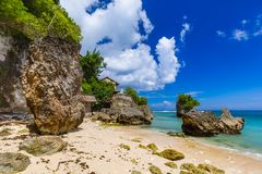 Impossible Beach - Bali Indonesia. Impossible Beach in Bali Indonesia - nature vacation background royalty free stock image