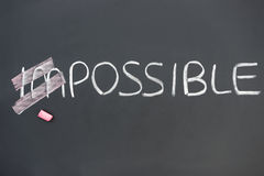 Impossible on blackboard Royalty Free Stock Image