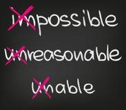 Impossible stock illustration