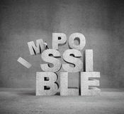 Impossible concept Royalty Free Stock Photography