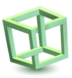 Impossible cube Royalty Free Stock Photos