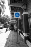 Impossible cycling lane in Bangkok Royalty Free Stock Photo