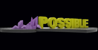 Impossible dans possible Photos stock