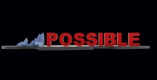 Impossible dans possible Image libre de droits