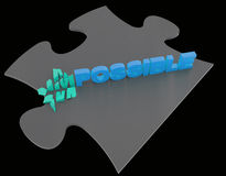 Impossible dans possible Images stock