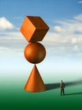 Impossible equilibrium Stock Photo