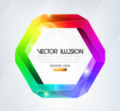 Impossible figure. Colorful illusion. Impossible figure vector illustration. Colorful optical illusion. EPS 10 format royalty free illustration