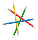 Impossible figure from pencils. Illustration Stock Image