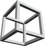 Impossible form of a cube Stock Images