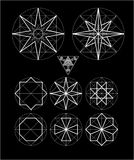 Impossible geometry symbols vector set. Stock Photo