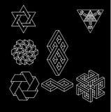 Impossible geometry symbols vector set. Royalty Free Stock Photo