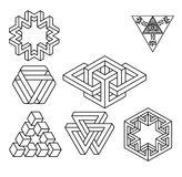 Impossible geometry symbols vector set. Stock Images