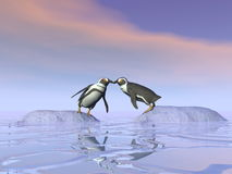 Impossible kiss - 3D render Stock Photography