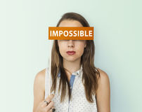 Impossible No Way Pessimism Word Concept Stock Image