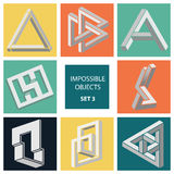 Impossible objects. Set 3 Royalty Free Stock Photo