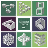 Impossible objects. Set 2 Royalty Free Stock Photos
