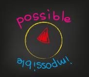 Impossible possible Photo libre de droits