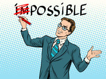 Impossible possible business concept Royalty Free Stock Photography