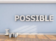 Impossible is possible Royalty Free Stock Images