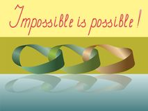 The impossible is possible. A chain of Mobius rings. Vector illustration Stock Photo