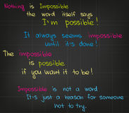 Impossible quotes Stock Images