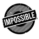 Impossible rubber stamp Stock Photography